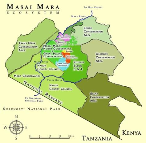 Masai Mara North Conservancy map