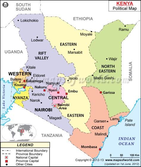 kenya-political-map