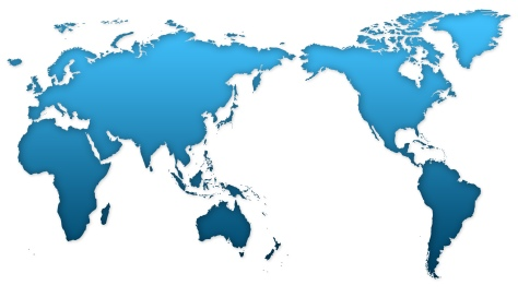 World Map Blue