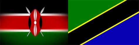 Kenya -Tanzania Flags