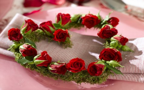 Lovely Red Flowers Photography Valentine Day Rose Heart Roses Wreath Beautiful Flower Wallpaper Download Desktop